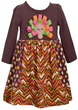 Bonnie Jean Girls 7-16 Turkey Applique Dress