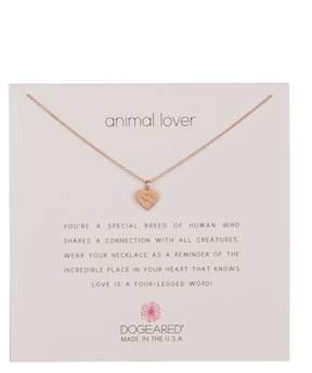 Dogeared Animal Lover Best Friends Heart Pendant Necklace