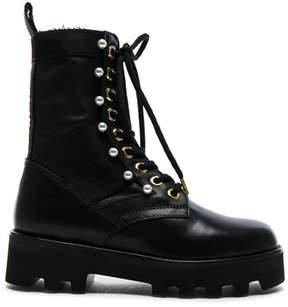 Altuzarra Leather Cosmo Ankle Combat Boots