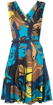 Carolina Herrera belted flared floral dress