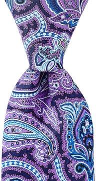 Roundtree & Yorke Print Paisley Traditional Silk Tie