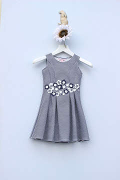 Halabaloo Striped Flare Dress