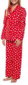 Dex Girl's Two-Piece Polka Dot Pajama Top and Pants Set