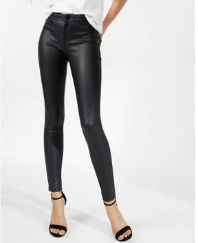 Express five pocket faux leather leggings