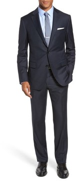 Pal Zileri Men's Classic Fit Banker Stripe Wool Suit