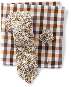 Original Penguin Dibley Floral Tie, Pocket Square, & Lapel Pin Set