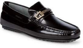 Tod's Square Toe Leather Loafers