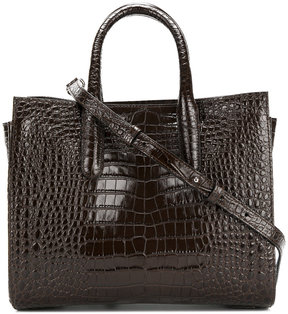 Max Mara crocodile print handle tote