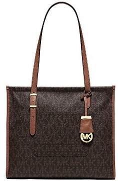 Michael Kors Darien Medium Brown/Peanut Logo Tote Bag - ONE COLOR - STYLE