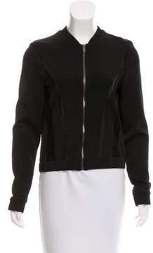 Belstaff Leather-Trimmed Neoprene Jacket w/ Tags