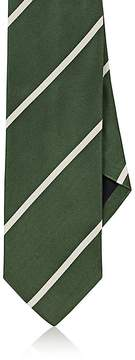 Drakes Drake's Men's Striped Silk Satin Necktie
