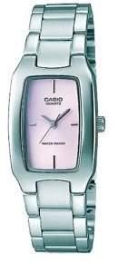 Casio Women's Pink Dial Watch, Stainless Steel Bracelet