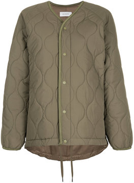 EN ROUTE quilted snap button jacket