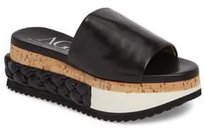 AGL Braided Flatform Slide Sandal