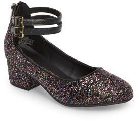 Sam Edelman Girl's Evelyn Bree Ankle Strap Glitter Pump