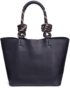 Rebecca Minkoff Climbing rope handle pebbled leather tote - ONE COLOR - STYLE
