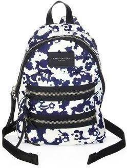 Marc Jacobs Mini Biker-Print Backpack - BLUE MULTI - STYLE