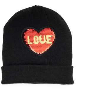 Mudd Love & xoxo Reversible Sequin Beanie