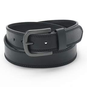 Dickies Men's Double-Stitched Faux Leather Belt