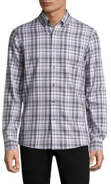 Michael Kors Plaid Cotton Casual Button-Down Shirt