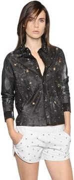 Drome Cropped Studs & Eyelets Leather Shirt