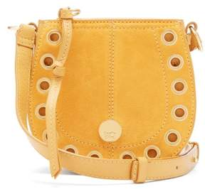 See by Chloe Kriss Mini Leather And Suede Cross Body Bag - Womens - Yellow