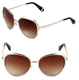 Zac Posen Issa 57MM Oval Sunglasses