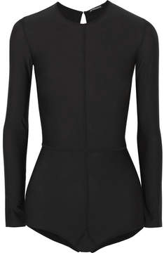 Ann Demeulemeester Open-back Stretch-jersey Bodysuit - Black