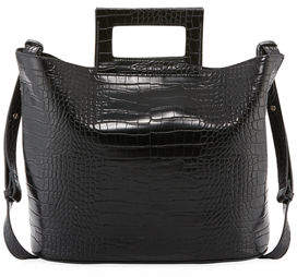 French Connection Corey Crocodile-Embossed Tote Bag