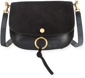 Chloé Kurtis Medium Suede/Leather Studded Shoulder Bag