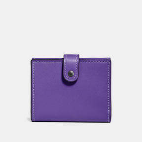 COACH Coach Small Trifold Wallet - BLACK COPPER/VIOLET - STYLE