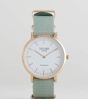 Reclaimed Vintage Inspired Canvas Watch In Olive 36mm Exclusive to ASOS