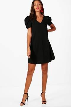 boohoo Tall Puff Sleeve Dress