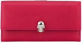 Alexander McQueen Skull Continental Leather Wallet