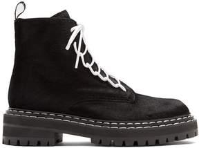 Proenza Schouler Tread-sole calf-hair ankle boots