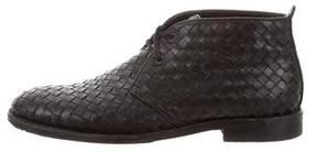 Bottega Veneta Intrecciato Leather Desert Boots