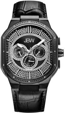 JBW Orion 0.12 C.T.W Diamond Mens Black Strap Watch-J6342d