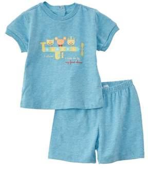 Chicco Boys' 2pc Blue T-shirt & Short Set.