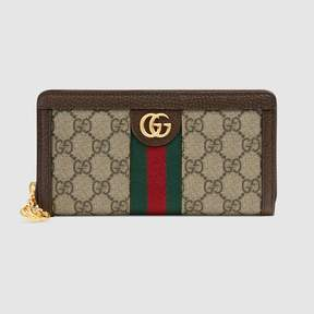 Gucci Ophidia GG zip around wallet