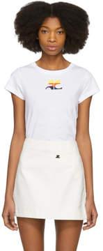 Courreges White Gradient Logo T-Shirt