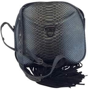 Folli Follie Blue Metallic Reptile Fringe Crossbody Bag
