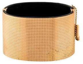 Celine Textured Minimal Manchette Bracelet