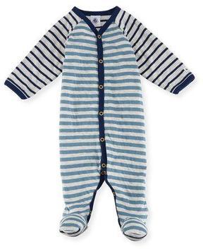 Petit Bateau Mixed-Striped Footie Pajamas, Size 1-9 Months
