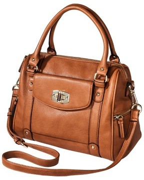 Merona Women's Satchel Faux Leather Handbag with Removable Crossbody Strap