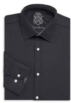 English Laundry Herringbone Cotton Dress Shirt