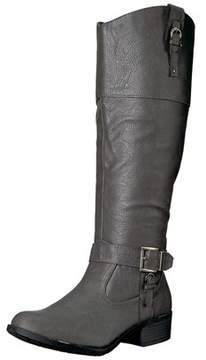Rampage Womens Ivelia Almond Toe Knee High Riding Boots.