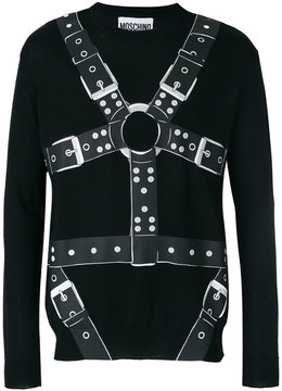 Moschino harness print sweater