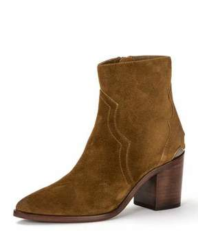 Frye Flynn Short Suede Boot with Metal Plate
