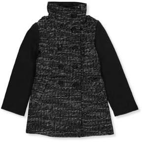 Jessica Simpson Big Girls' Coat (Sizes 7 - 16) - black/white, 7