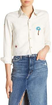 Mother Embroidered Crop Blouse